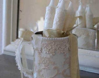 Pitcher Creamer shabby chic and these candles