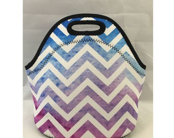 Lunch Bag | Kids Lunch Bag | Insulated Lunch Tote | Lunch Box | Office lunch bag | Holiday Gift | Teacher Gift Nurse Gift |Color Chevron