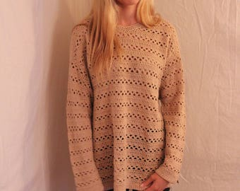 25% off!! dusty rose knit