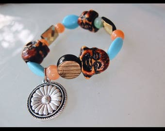 funky handcrafted buddha daisychain bracelet