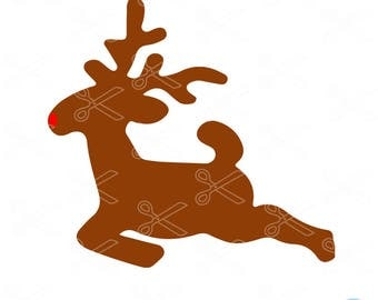 Rudolph SVG, DXF, PNG, Eps Cutting Files, Reindeer Rudolph Svg for Cricut Design Space, Silhouette, Die Cut Machines, Instant Download