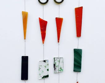 Small Decorative Stained Glass Wind Chime