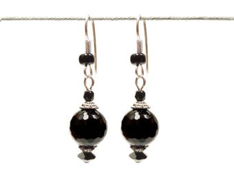 Chic Black Silver earrings