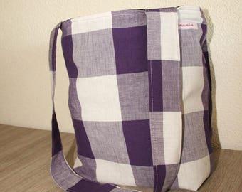 Project bag purple blocks
