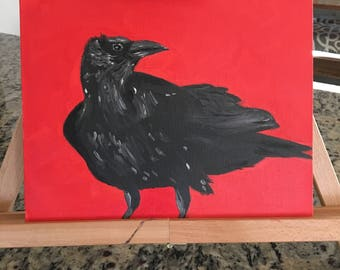 "Oil Painting - *Unframed Original* - ""Crow"""