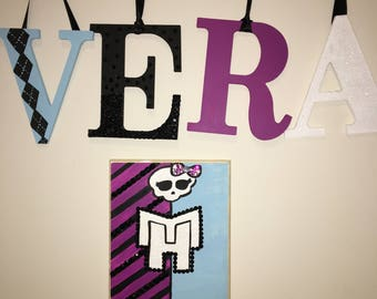 Monster High Letters Wall Decor