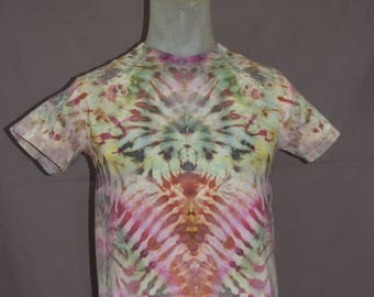 Handmade Ice Dye T-Shirt: Small