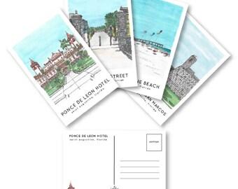 St. Augustine Beach Postcard Set