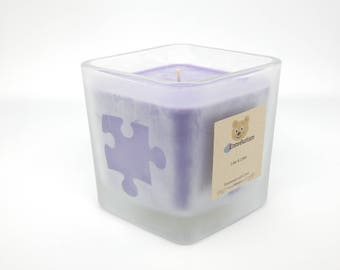 Etched Glass Candle