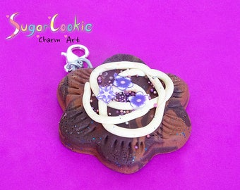 Polymer Clay Chocolate Biscuit Charm