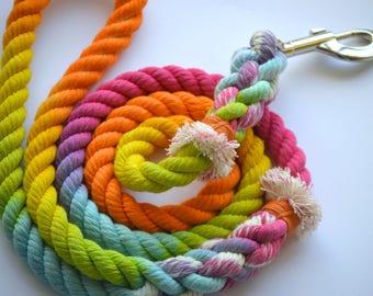 Rainbow Starburst Rope Leash