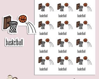 BASKETBALL | Planner Stickers | Sport | Ball | Game | Reminder | Erin Condren | TN | S137