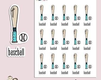 BASEBALL | Planner Stickers | Sport | Ball | Game | Reminder | Erin Condren | TN | S138