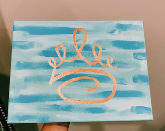 Zeta Tau Alpha Crown Canvas