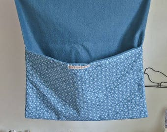 Blue fleece with flap cover