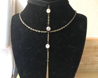 Velvet & Bronze Choker Necklace