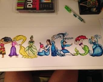 Princess Name Art