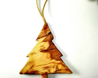 Wood Christmas Tree, Ornament, Christmas Craft, Tree Ornament, Holiday Ornament, Olive Wood Christmas Tree, Holiday Tree Decor, Wooden, Gift