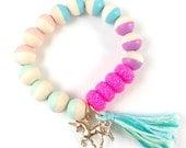 Girls unicorn charm bracelet unicorn birthday them unicorn party unicorn charm little girls unicorn bracelet unicorn jewelry rainbow unicorn