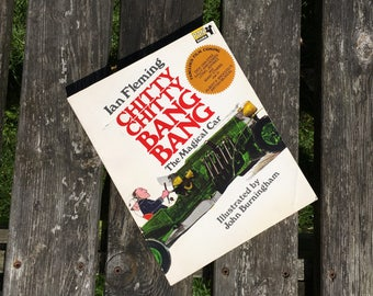 Chitty Chitty Bang Bang The Magical Car by Ian Fleming Vintage 19680Children's Book illustrated by John Burningham. Gift for 1970s child
