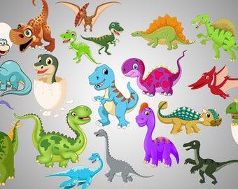 35x Baby dinosaurs png 300 ppi , wallprint , printable baby dinosaurs , baby dinosaurs clipart