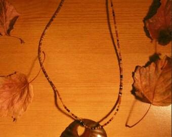 Beaded Leaf Necklace- Handmade in Kenya