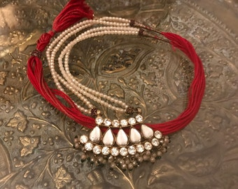 Long ethnic necklace