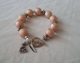 Celestial Crystal Glass Pearl & Metal Bracelet