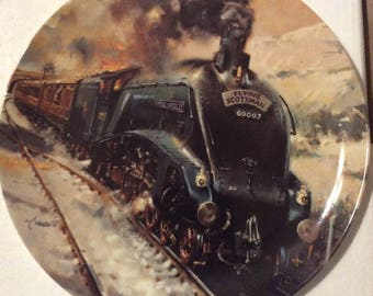 """Famous Trains: """"The Flying Scotsman"""" on Vintage Bone China, 1994"""