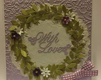 With Love wreath card