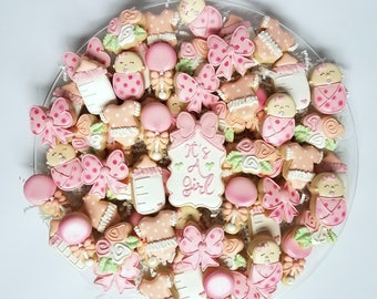 Baby Girl Shower Cookies