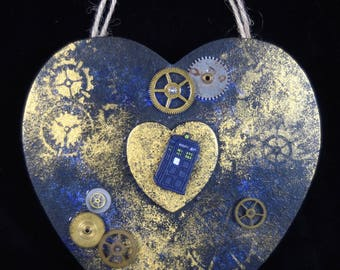 The Little Blue Box Collection- Tardis, Doctor Who, Steampunk, Wall Hanger