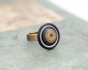 Vintage - genuine vintage buttons #1296 ring