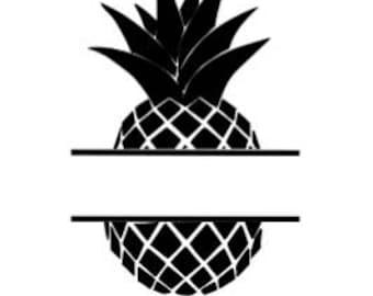 Viny decal: Pinepple monogram