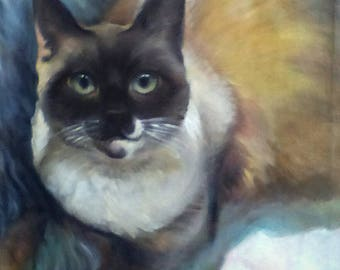 Custom Pet Portrait Original Watercolor Painting 29x20cm 11.5x8 inch A4