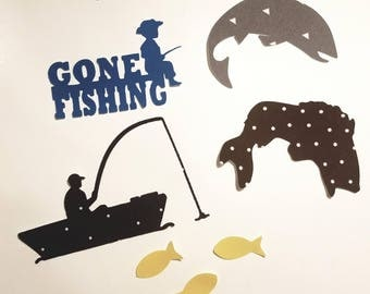 Fishing iron on appliques. Perfect add on to any other applique set DIY baby shower Customize easily by messaging me Boy or girl baby shower