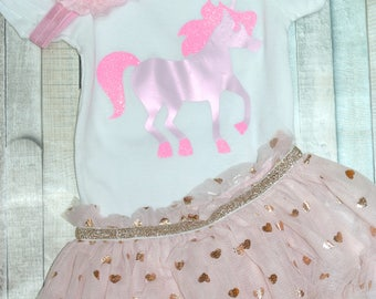 Unicorn, Pink Unicorn, Baby Girl, Newborn, Glitter Unicorn, Baby Shower, Horse