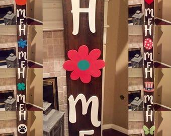 Seasonal & Interchangeable Home Door Sign