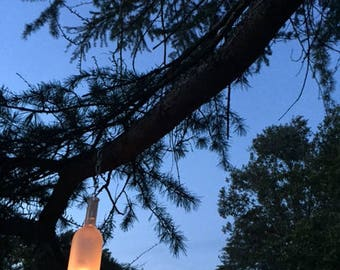 Outside glass bottle lamp