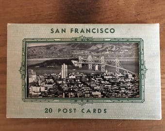 J.C. Bardell Black and White Photo Post Card Packet With Views of San Francisco 20 Vintage Postcards