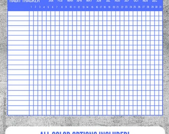 Printable Habit Tracker, Habit Log, Monthly Habit Tracker