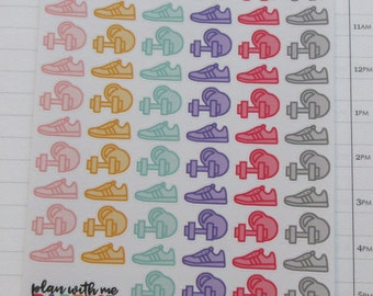 WorkOut Running Shoes Weights Planner Stickers
