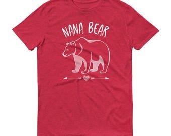 Best Nana Gifts Family Bear Tees | Nana Bear Tshirts Family Bear Shirts | Nana Shirt Grandma Gift | Unisex / Mens Sizes S-3X