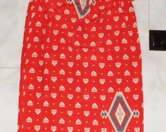 Valentino Rare Exclusive Vintage 100% Silk Tunic Maxi Dress,46 IT ,12/14-UK, Red