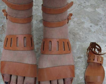 Womens Sandals, Sandals Womens,Leather Sandals,Greek Sandals,Natural  Santals,  Leather Sandals,Strappy Sandals,Archaiko ARIADNE