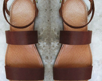 Sandals Womens,Womens  Sandals, Leather Sandals, Greek Sandals, Handmade Sandals,Brown Sandals,Greek Leather Santals,Strappy Santals,MYKONOS
