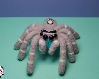 Jumping Spider Phidippus Regius felt Doll