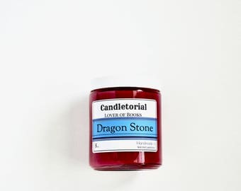 Dragonstone-Game of Thrones-Book Candle-Lover of Books Gift-Scented Soy Candle-8 oz. Jar