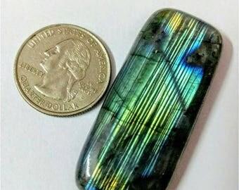52.23x22.86mm,Octogen Shape,Labradorite Cobochon/Green Flash /wire wrap stone/Super Shiny/Pendant Cabochon/Semi Precious Gemstone/silverJewl