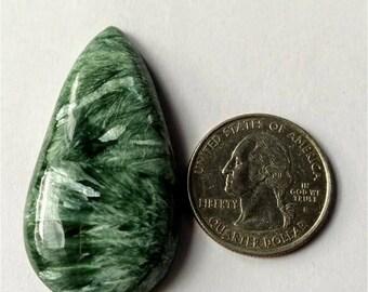 47.48x25 mm, Pear Shape Seraphinite Russian cabochon /tear droop Shape Seraphinite Russian cabochon/ wire wrop cabochon ,AAA Seraphinite
